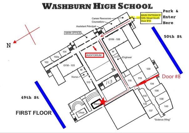 Washburn School Plan Auditorium