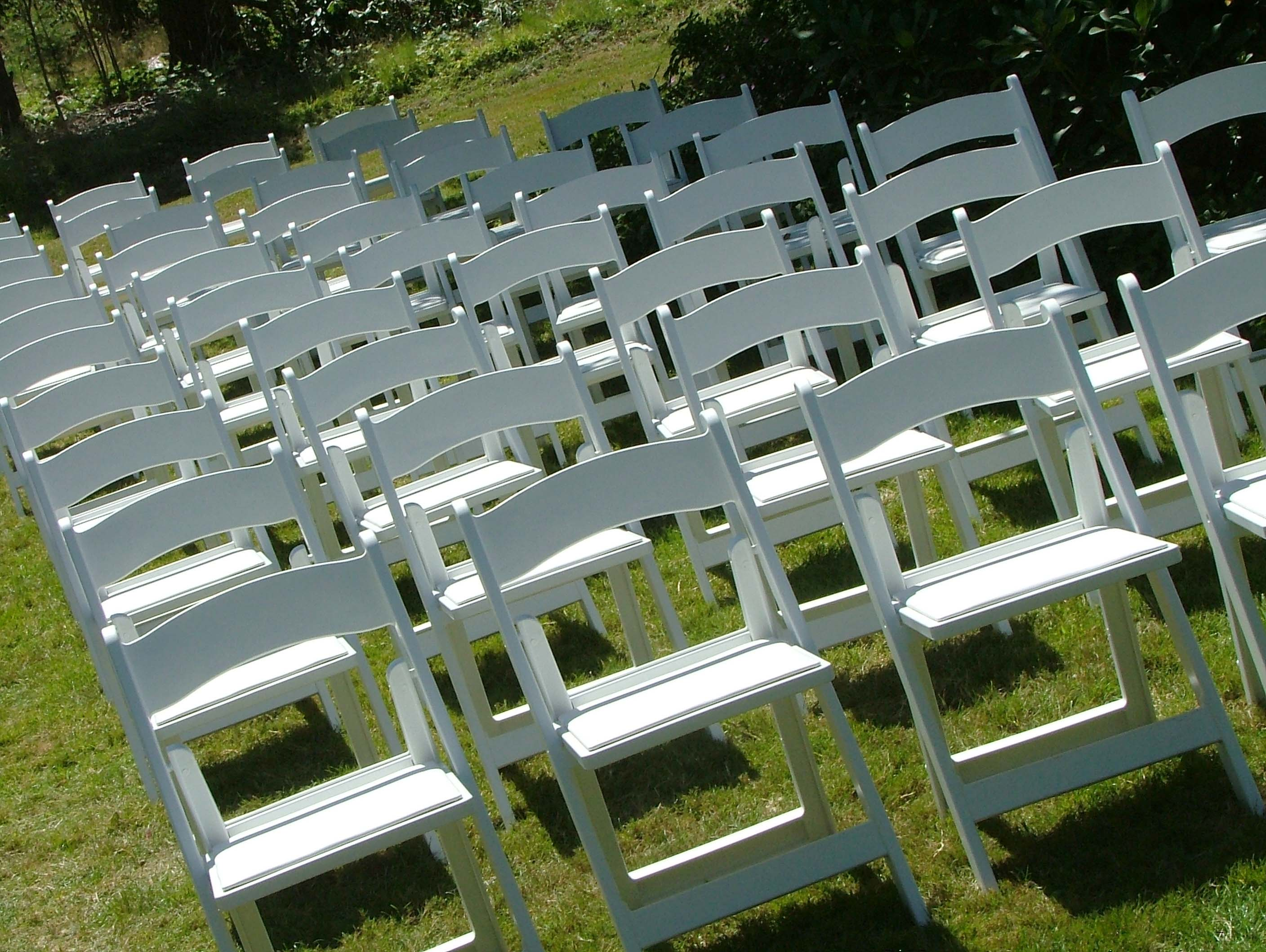 white chairs for wedding hush pod chair tables and seward party rentals