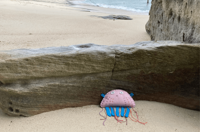 Felt Jellyfish for Kids to Sew - Free Sewing Pattern