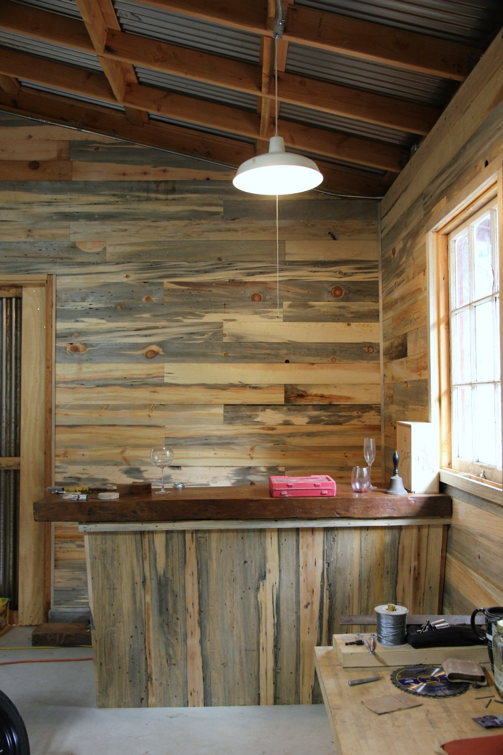 Stone fireplace with reclaimed bargeboard finish contemporary - Diy Pipe Shelf Reclaimed Wood Plank Walls