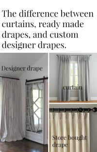 The difference between drapes and curtains