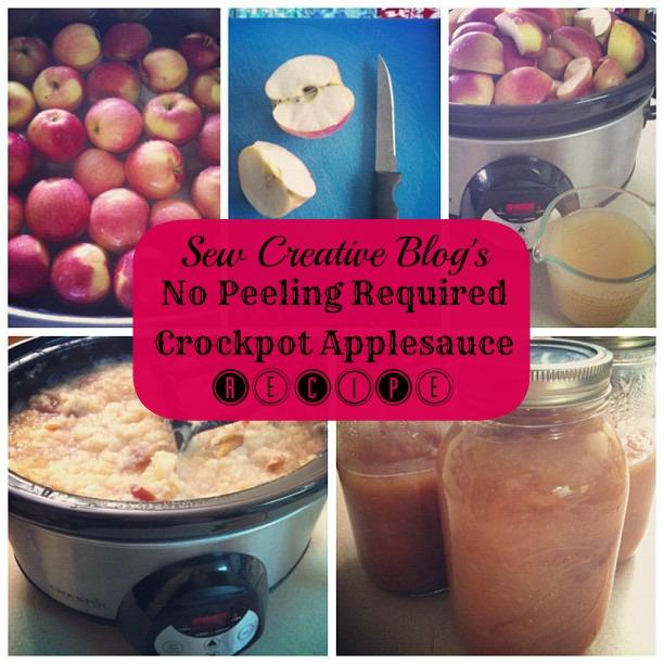No Peeling Required Crockpot Apple Sauce Recipe