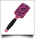 fashion print paddle hair brush