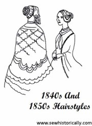 1840s and 1850s hairstyles - sew