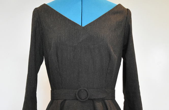 Winter Wool Dress, Echo's of 1956
