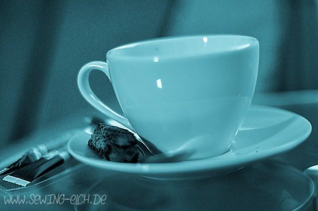 Kaffeetasse mit coolem Bildstil
