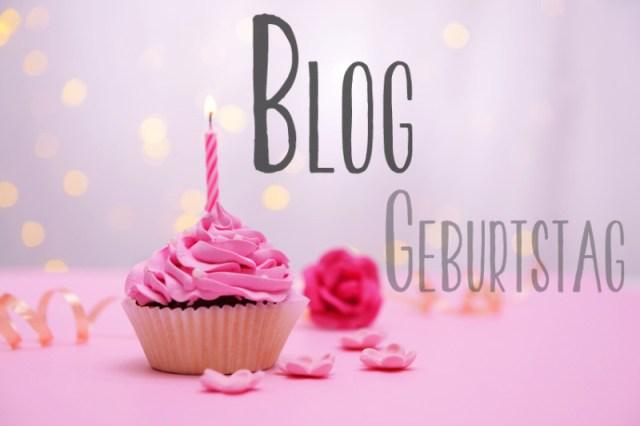 Imagebild Bloggeburtstag mit Cupcake und Kerze