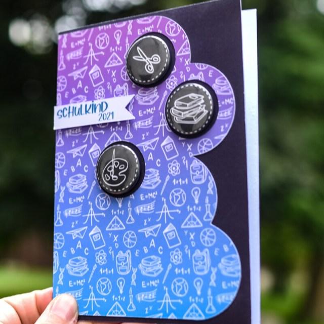 Buttonkarte zum Schulanfang