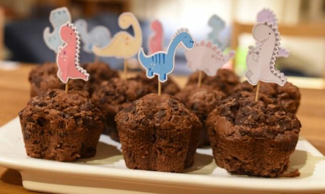 Muffinstecker mit Dinos