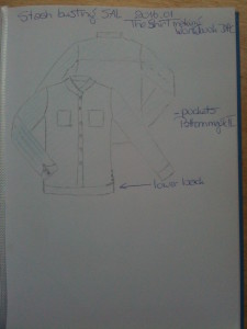 sewing technical handmade blouse stash