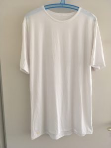Sewing White Round Neck Male T-Shirts