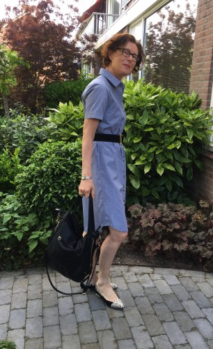 Homemade classic shirt dress