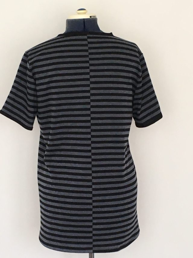 Jeans Blue/Black vertical stripes Mens T-shirt