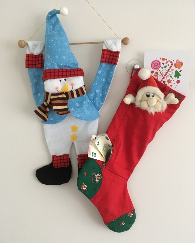 Red Jeans Homemade Christmas Stocking
