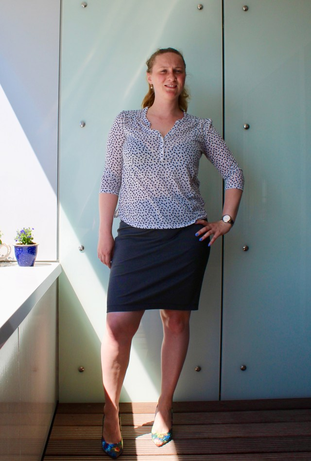 Two new homemade pencil skirts