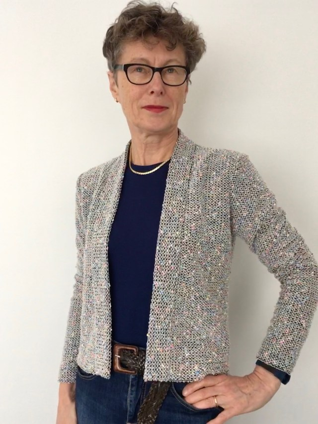 Knitted Bouclé Blackwood Cardigan