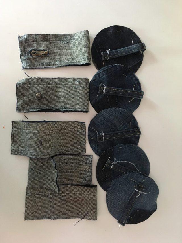 patroongewichten van jeans