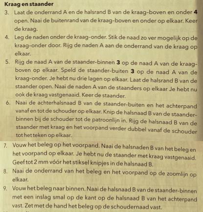 beschrijving kraag met kraagstaander