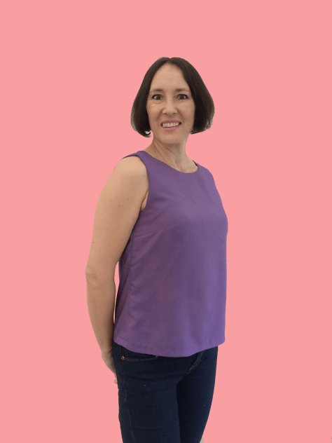 Sewing Avenue - Sleeveless Purple Top Shirt