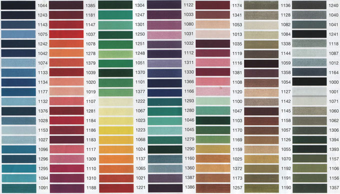Robison Anton To Madeira Color Conversion Charts