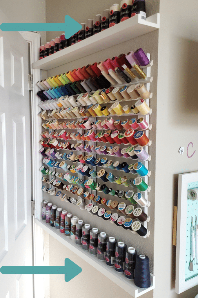 sewing and embroidery thread storage