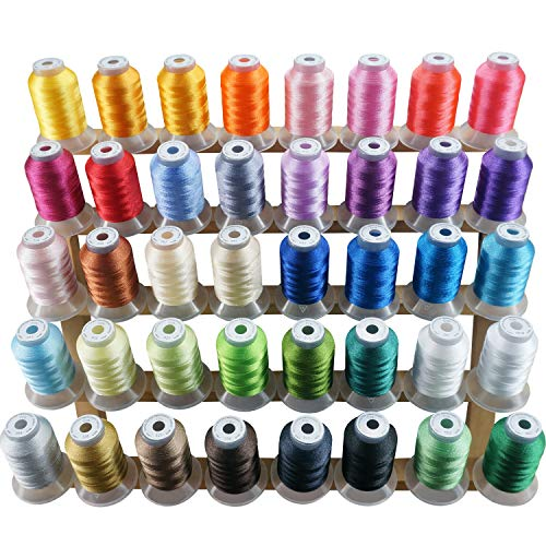 New Brothread 40 Colors Polyester Embroidery Machine Thread