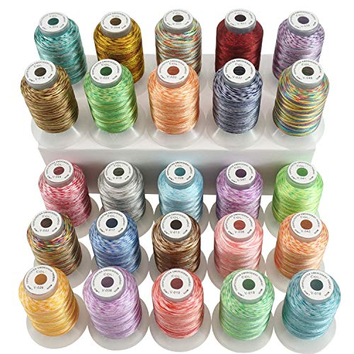 New Brothread 25 Colors Variegated Polyester Embroidery Machine Thread