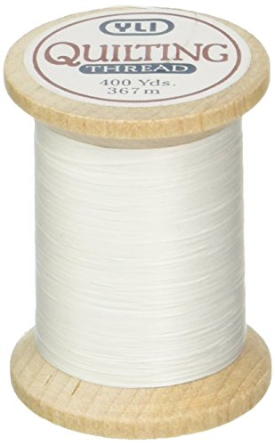 YLI 21104-WHT 3-Ply T-40 Cotton Hand Quilting Thread