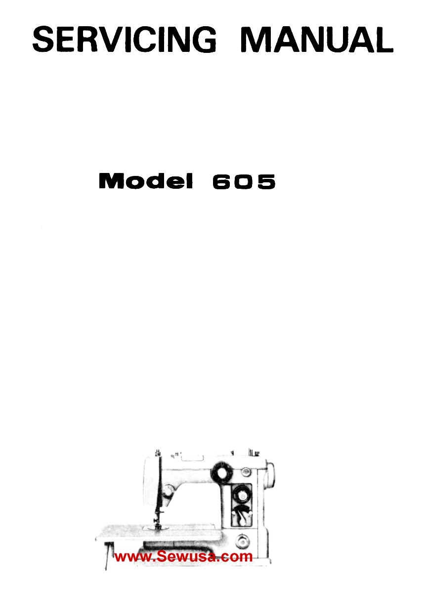 New Home 605 Service Manual