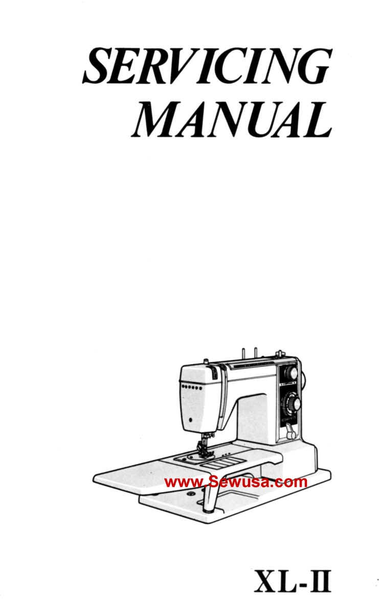 New Home Model XL-II Service Manual