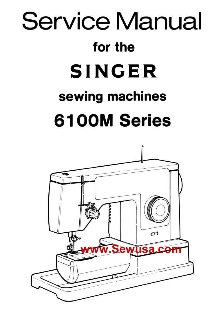 Singer 6100 Series Service Manual