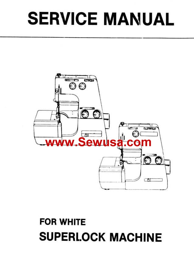 White 503 504 523 534 Superlock Service Manual