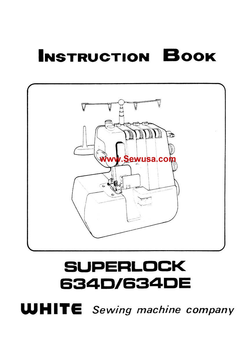 White 634D 634DE Instruction Manual