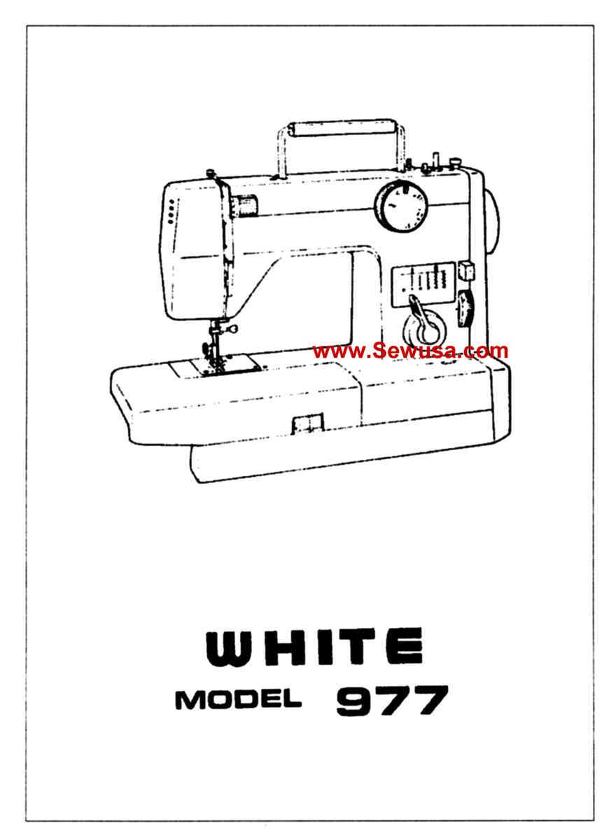 White Sewing Machine Instruction Manuals / Novel Drug