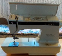 'Old Reliable' mom's Singer Creative Touch takes a lickin' and keeps on stitchin'!