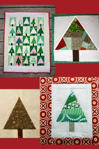 Photo credits: Diary of a Quilter (top left); Happy Quilting Melissa (top right); ChezStitches (bottom left); Ellison Lane (bottom right).