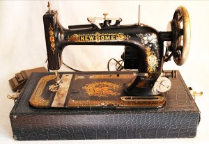 Can you picture someone casually sewing on one of these now?