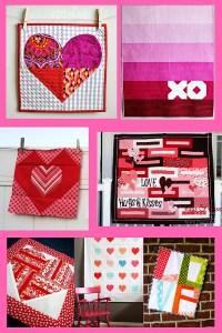 Valentine quilt roundup.