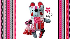 There are lots of ideas for softies to sew, but none are as cute as this sweetie.
