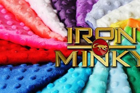 Do NOT iron minky directly!