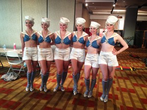Showgirl ensemble.