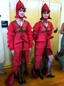 One of the oddest costumes I've made were these lobsters, again for Boardwalk.
