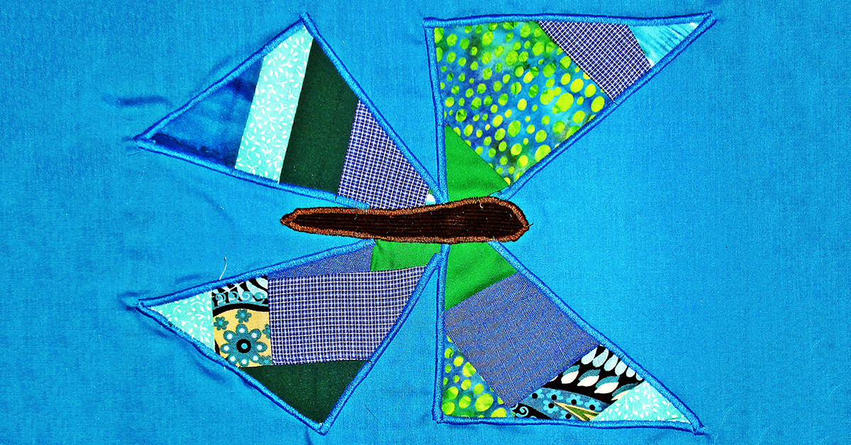 Crazy Patch Butterfly Applique Blocks