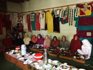 The Sewing Centre is housed in a small space provided by a village resident.