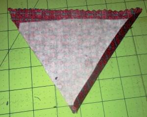 Tassel bag point crease image.
