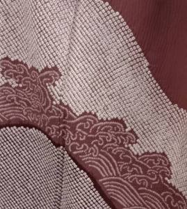 Kimono, from the collection of Gentry Klossing, with finely detailed miura and nui shiboro