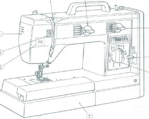 Jones Brother VX 757 760 770 Sewing Machine Instruction Manual