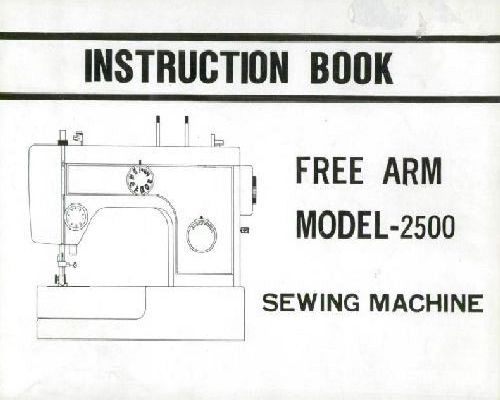 Riccar 2500 Sewing Machine Instruction Manual