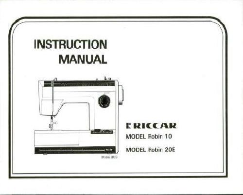 Riccar Sewing Machine Instruction Manuals