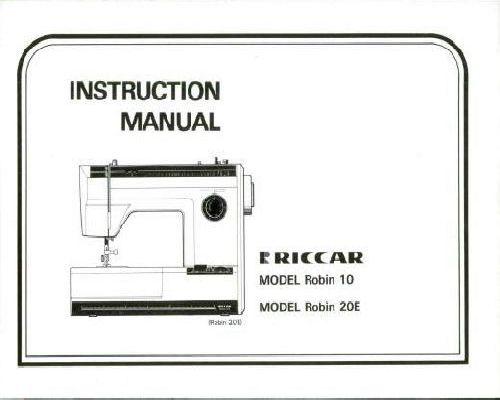 Riccar Sewing Machine Instruction Manuals